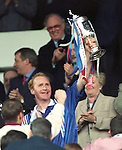 "John ""Bomber"" Brown with the Scottish Cup in 1996"