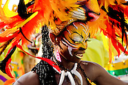 A Colombian girl, having a tiger mask, dances Mapalé during the Carnival in Barranquilla, Colombia, 25 February 2006. The Carnival of Barranquilla is a unique festivity which takes place every year during February or March on the Caribbean coast of Colombia. A colourful mixture of the ancient African tribal dances and the Spanish music influence - cumbia, porro, mapale, puya, congo among others - hit for five days nearly all central streets of Barranquilla. Those traditions kept for centuries by Black African slaves have had the great impact on Colombian culture and Colombian society. In November 2003 the Carnival of Barranquilla was proclaimed as the Masterpiece of the Oral and Intangible Heritage of Humanity by UNESCO.