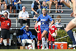 27 October 2013: Duke's Laura Weinberg. The Duke University Blue Devils hosted the Pittsburgh University Panthers at Koskinen Stadium in Durham, NC in a 2013 NCAA Division I Women's Soccer match. Duke won the game 6-3.