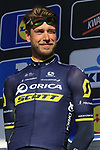 Roger Kluge (GER) Orica-Scott team on stage at sign on before the start of Gent-Wevelgem in Flanders Fields 2017, running 249km from Denieze to Wevelgem, Flanders, Belgium. 26th March 2017.<br /> Picture: Eoin Clarke | Cyclefile<br /> <br /> <br /> All photos usage must carry mandatory copyright credit (&copy; Cyclefile | Eoin Clarke)