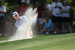 May 8,2011 - Davis Love III hits out of the bunker on number six.  Lucas Glover wins the tournament in sudden death over Jonathan Byrd at Quail Hollow Country Club,Charlotte,NC.