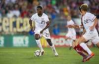 USA's Edson Buddle dribbles the ball against the Czech Republic during an international friendly tune up match for the 2012 World Cup, in Hartford, CT, 05/25/10. The Czech Republic defeated the USA 4-2.