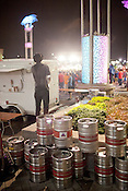 Empty kegs and a better view of The Roots performing during the final night of the Hopscotch Music Festival, Raleigh, N.C., September 8, 2012