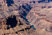 United States, Arizona, Grand Canyon. Mohave Point has a great view of the near vertical cliffs around The Abyss and continuing towards Pima Point.