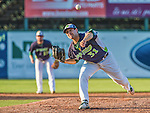 1 September 2014: Vermont Lake Monsters pitcher Michael Fagan on the mound against the Tri-City ValleyCats at Centennial Field in Burlington, Vermont. The ValleyCats defeated the Lake Monsters 3-2 in NY Penn League action. Mandatory Credit: Ed Wolfstein Photo *** RAW Image File Available ****