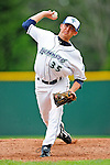 25 July 2010: Vermont Lake Monsters pitcher Dustin Crane on the mound against the Tri-City ValleyCats at Centennial Field in Burlington, Vermont. The ValleyCats came from behind to defeat the Lake Monsters 10-8 in NY Penn League action. Mandatory Credit: Ed Wolfstein Photo