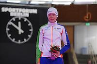 SCHAATSEN: BERLIJN: Sportforum, 07-12-2013, Essent ISU World Cup, podium 1500m Ladies Division B, Jorien ter Mors (NED), ©foto Martin de Jong