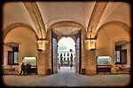 Main entrance hall, University of Seville (former Royal Tobacco Factory), Seville, Spain