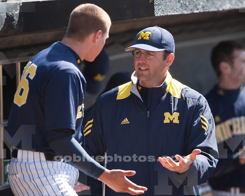 University of Michigan baseball 5-4 loss to Michigan State in game one of a double-header at Ray Fisher Stadium in Ann Arbor, MI, on March 27, 2011