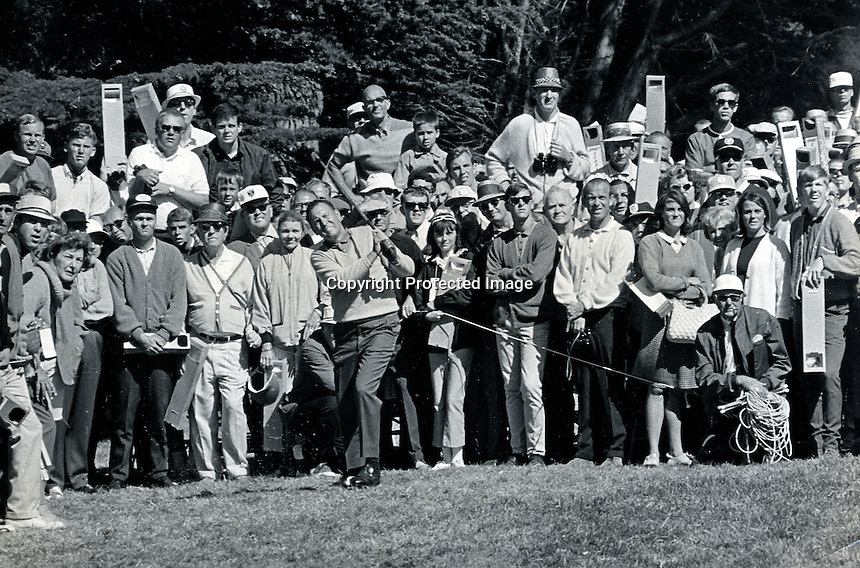 Billy Casper winning the 1966 U.S.Open at the Olympic Club in San Francisco. (photo/Ron Riesterer)