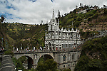 General view of Las Lajas Sanctuary (Santuario de Las Lajas) which is a basilica church located in the southern Department of Nariño and built inside the canyon of the Guáitara River. 1/7/2007. Photo by Joana Toro / VIEWpress.
