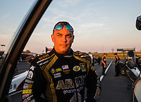 Sep 23, 2016; Madison, IL, USA; NHRA top fuel driver Tony Schumacher during qualifying for the Midwest Nationals at Gateway Motorsports Park. Mandatory Credit: Mark J. Rebilas-USA TODAY Sports