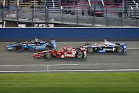 10/19/13 Fontana, CA:  l to  Jr Hilebrand, Alex Tagliani, Josef Newgarden during the MAVTV 500 held at the Auto Club Speedway.