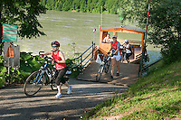 Danube, Upper Austria, June 2010. Between Haibaich ob der Donau and Waldkirchen am Weser the Danube reverses course at the Donauschlinge. The river can be crossed by a pedestrian ferry. The 450 kilometre long Donausteig hiking trail roughly follows the Danube on both sides of the river between Passau in Germany and Grein in Austria. Photo by Frits Meyst/Adventure4ever.com