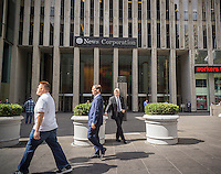 The News Corp. headquarters in Midtown Manhattan in New York on Friday, September 16, 2016.  (© Richard B. Levine)