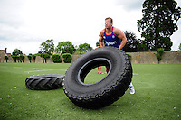 Chris Cook of Bath Rugby in action during a Bath Rugby photoshoot on June 21, 2016 at Farleigh House in Bath, England. Photo by: Patrick Khachfe / Onside Images