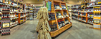 Wine Rack, Supermarket, Display, Shelves Stacked, Panorama, Stores, Shopping Mall ,Stock Photos, Pictures, Images, Photographs