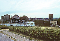 Albany: View of parking lots and bulldozed land, East side of Empire State Plaza. Photo '88.