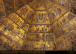 13th c Ceiling Mosaics detail Choir of Angels Book of Genesis Joseph Mary and Christ Baptistry of San Giovanni Florence