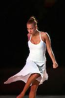 "Natalya Godunko  of Ukraine performs during gala at 2008 World Cup Kiev, ""Deriugina Cup"" in Kiev, Ukraine on March 23, 2008."
