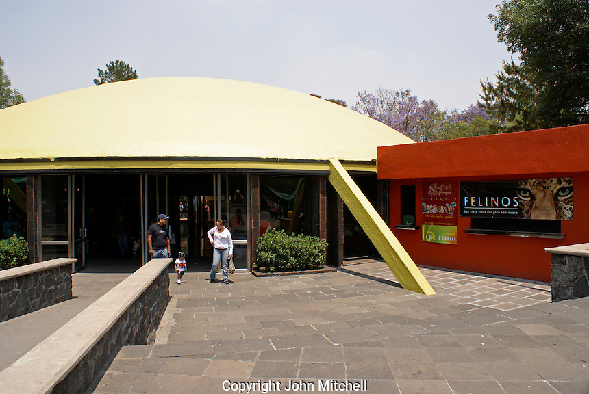The Museo de Historia Natural or Natural History Museum  in the Second Section of Chapultepec Park, Mexico City