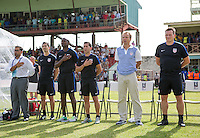 St. Vincent and the Grenadines - September 2, 2016: The U.S. Men's National team take a 3-0 first half lead over St. Vincent and the Grenadines in a World Cup Qualifier (WCQ) match at Arnos Vale Stadium.