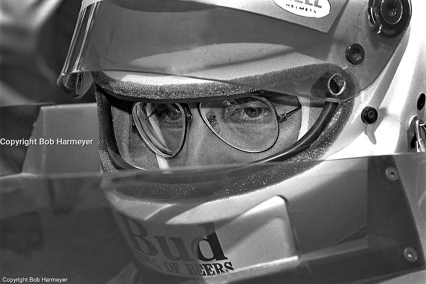 PHOENIX, AZ - APRIL 6: Bobby Rahal in his  March 86C/Cosworth during practice for the Dana 200 at Phoenix International Raceway near Phoenix, Arizona.