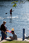 Paddle boarding is becoming a popular sport on our lakes, rivers and oceans.