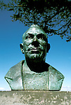 California: Monterey, Bust of John Steinbeck, Photo: canner101.Photo copyright Lee Foster, 510/549-2202, lee@fostertravel.com, www.fostertravel.com