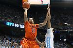 02 February 2013: Virginia Tech's Erick Green (11). The University of North Carolina Tar Heels played the Virginia Tech Hokies at the Dean E. Smith Center in Chapel Hill, North Carolina in an NCAA Division I Men's college basketball game. UNC won the game 72-60 after overtime.