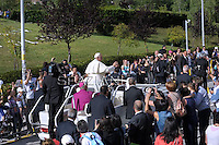 Pope Francis during  holy mass in Campobasso, southern Italy, during visit in the Molise region.  July 5, 2014