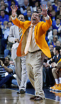 Bruce Pearl, The University of Tennessee head basketball coach, in his first game back after a suspension in conference play on Tuesday, February 8, 2011.  Photo by Latara Appleby | Staff
