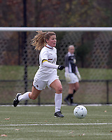 Boston College defender Hannah Cerrone (11) brings the ball forward. Boston College defeated Hofstra University, 3-1, in second round NCAA tournament match at Newton Soccer Field, Newton, MA.