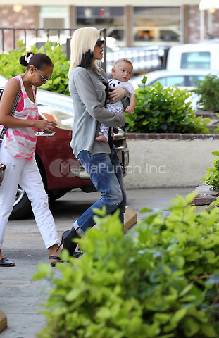 Oct 3 Los Angeles  Gwen Stefani and baby Apollo out and about downtown before heading to Gwen's family for her birthday.  John Misa /MediaPunch