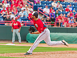 7 March 2015: Washington Nationals pitcher Scott McGregor in Spring Training action against the St. Louis Cardinals at Space Coast Stadium in Viera, Florida. The Nationals rallied to defeat the Cardinals 6-5 in Grapefruit League play. Mandatory Credit: Ed Wolfstein Photo *** RAW (NEF) Image File Available ***