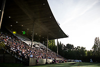 Seattle, WA - Sunday, May 21, 2017: Memorial Stadium during a regular season National Women's Soccer League (NWSL) match between the Seattle Reign FC and the Orlando Pride.