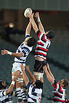 Chris McLaren gets above Steven Luatua to claim lineout ball.  ITM Cup Round 7 rugby game between Auckland and Counties Manukau, played at Eden Park, Auckland on Thursday August 11th..Auckland won 25 - 22.