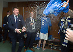 St Johnstone v Dundee United....17.05.14   William Hill Scottish Cup Final<br /> Manager Tommy Wright sprays champagne<br /> Picture by Graeme Hart.<br /> Copyright Perthshire Picture Agency<br /> Tel: 01738 623350  Mobile: 07990 594431