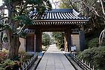 Photo shows the entrance gate to Hokokuji temple in Kamakura, Japan on 24 Jan. 2012. Photographer: Robert Gilhooly