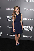 BEVERLY HILLS, CA - OCTOBER 13: Hannah Nordberg attends the Special Screening Of Lionsgate's 'American Pastoral' on October 13, 2016 in Beverly Hills, California. (Credit: MPA/MediaPunch).