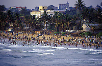 A Sunday afternoon on Mount Lavinia Beach.