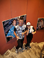 DANNY WILLS (AUS) and  MICK CAMPBELL (AUS)  at Danny's retirement  from the ASP World Tour was celebrated last night, Monday 2 March 2009 at the La Monde restaurant at Kirra Beach, Kirra, Queensland, Australia ,   Photo: joliphotos.com