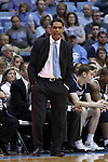 28 December 2016: Monmouth head coach King Rice. The University of North Carolina Tar Heels hosted the Monmouth University Hawks at the Dean E. Smith Center in Chapel Hill, North Carolina in a 2016-17 NCAA Division I Men's Basketball game. UNC won the game 102-74.