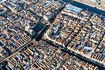 Nederland, Noord-Holland, Alkmaar, 28-10-2016; centrum van Alkmaar, met de grachten Luttik Oudorp, Zijdam en Voordam. Mient, Waagplein met Waag.<br /> Alkmaar historical city centre.<br /> luchtfoto (toeslag op standard tarieven);<br /> aerial photo (additional fee required);<br /> copyright foto/photo Siebe Swart