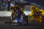 May 18, 2012; Topeka, KS, USA: NHRA top fuel dragster driver Cory McClenathan during qualifying for the Summer Nationals at Heartland Park Topeka. Mandatory Credit: Mark J. Rebilas-