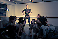 Berlin-based theatre director Willem Wassenaar, directing a rehearsal of his Long Cloud Youth Theatre company actors. He is co-director of Almost A Bird Theatre Collective, New Zealand. Willem Wassenaar graduated from Toi Whakaari with a Master of Theatre Arts in Directing in 2006.  http://almostabirdtheatrecollective.com/