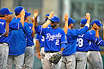 14 September 2008: Members of the Kansas City Royals celebrate their win against the Cleveland Indians at Progressive Field in Cleveland, Ohio. The Royal defeated the Indians 13-3 to take the 4-game series three games to one...Mandatory Photo Credit: Ed Wolfstein Photo