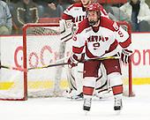 Danny Biega (Harvard - 9) - The Harvard University Crimson defeated the visiting Clarkson University Golden Knights 3-2 on Harvard's senior night on Saturday, February 25, 2012, at Bright Hockey Center in Cambridge, Massachusetts.