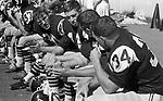 &copy;2013 David Burnett/Contact Press Images<br /> 703 626 1696<br /> 1965 Colorado College Football<br /> Steve Sabol (#34)<br /> Colorado Springs, CO<br /> CC vs Nebraska Weslayan College<br /> October, 1965