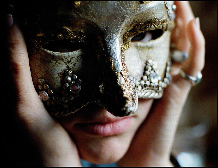 A Venetian party mask